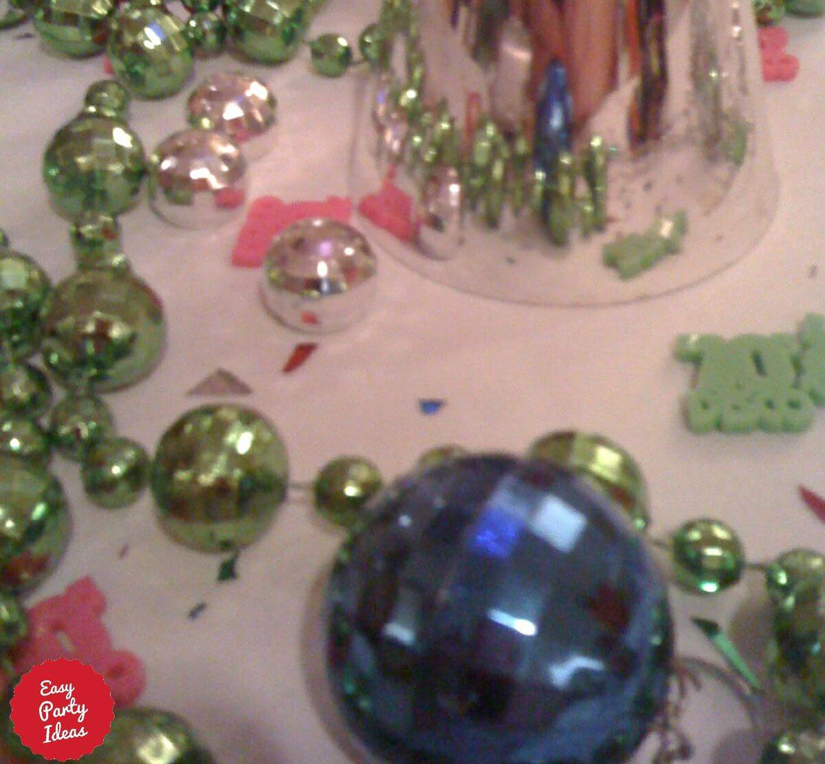 Disco Party Table Decorations