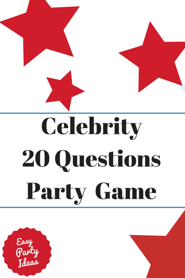 Celebrity 20 Questions Party Game