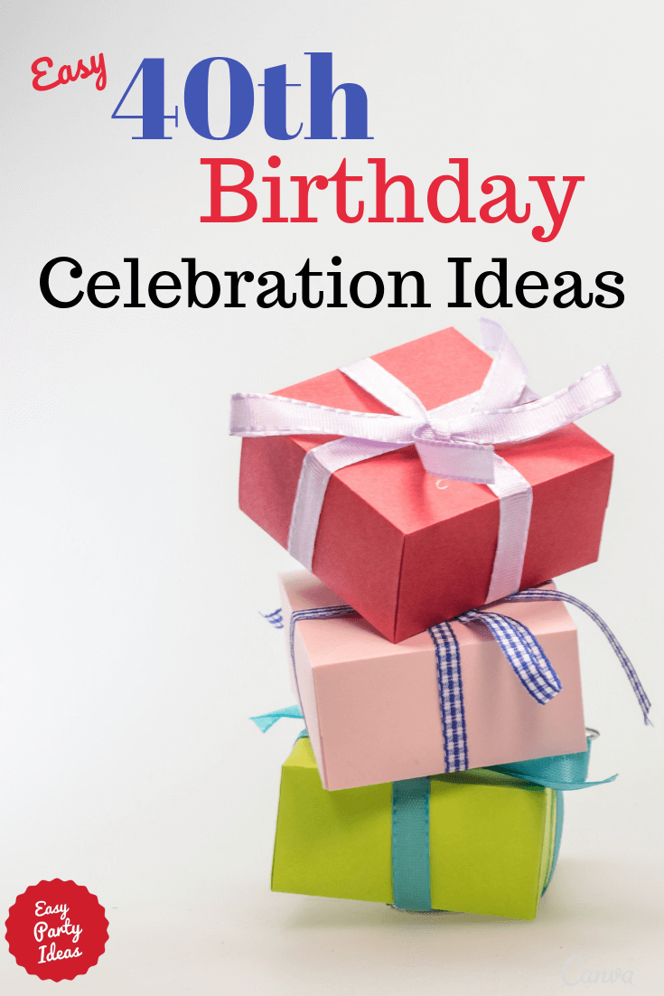 40th Birthday Celebrations Ideas