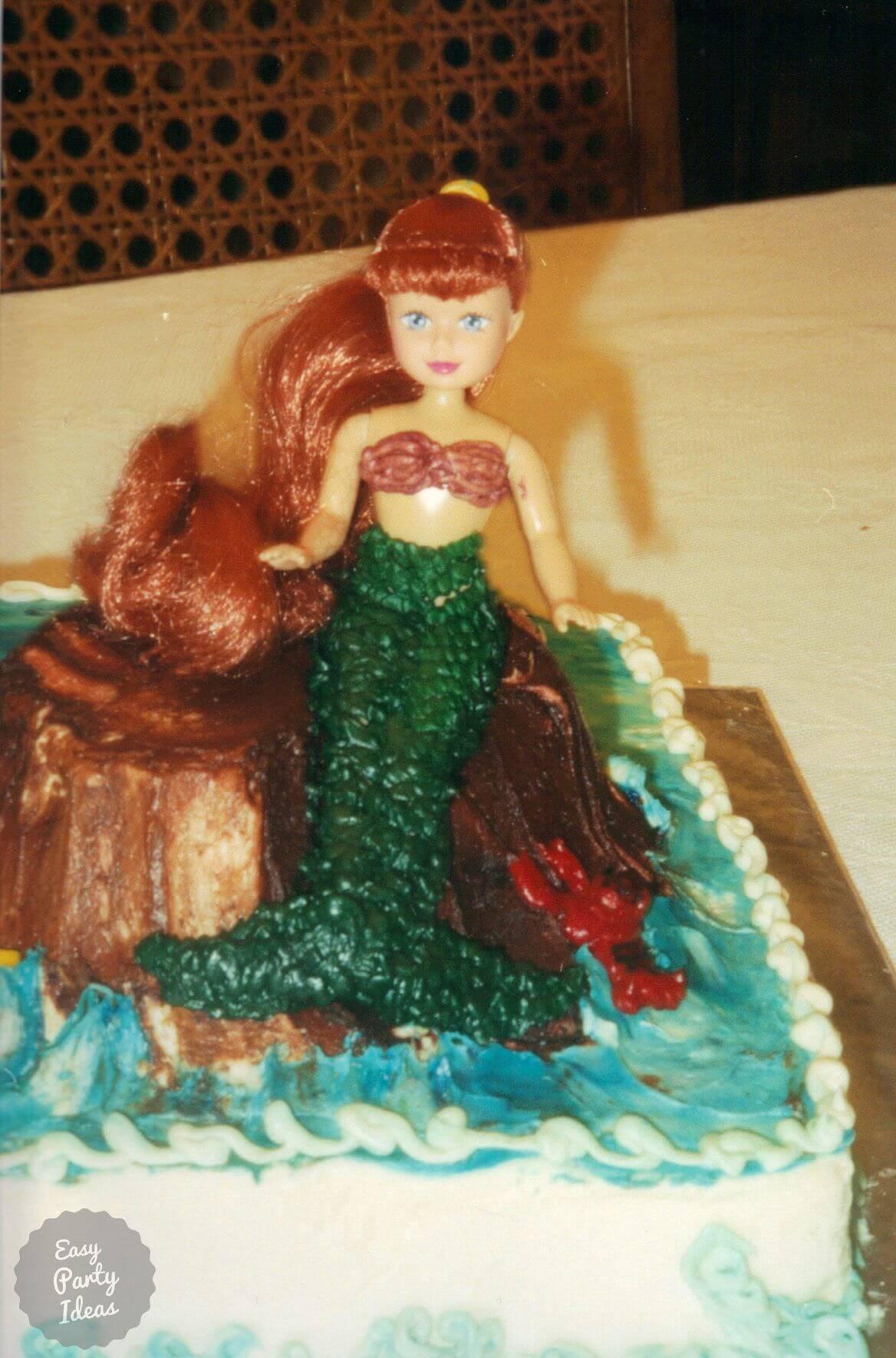 Mermaid Cake Closeup.