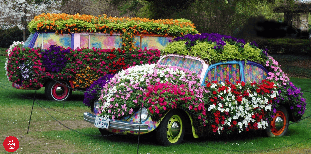 60s Cars Covered in Flowers