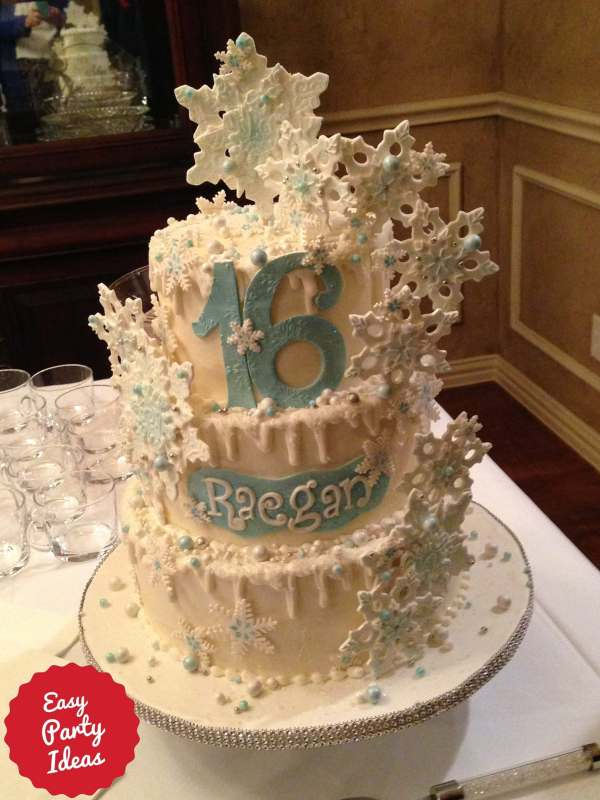 Sweet Sixteen Party Cake that is Frozen Theme