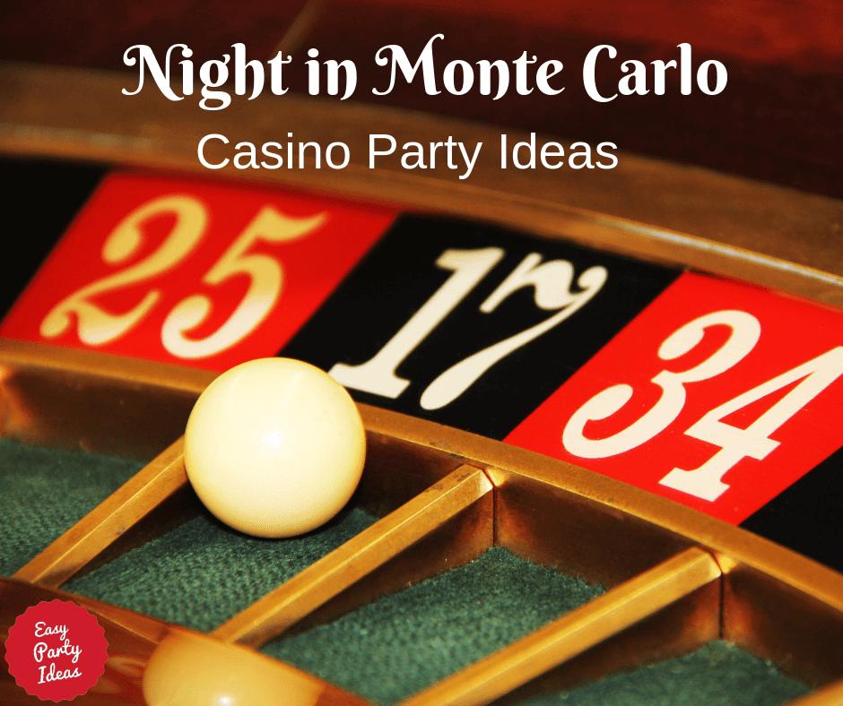 Monte Carlo Casino Party Ideas
