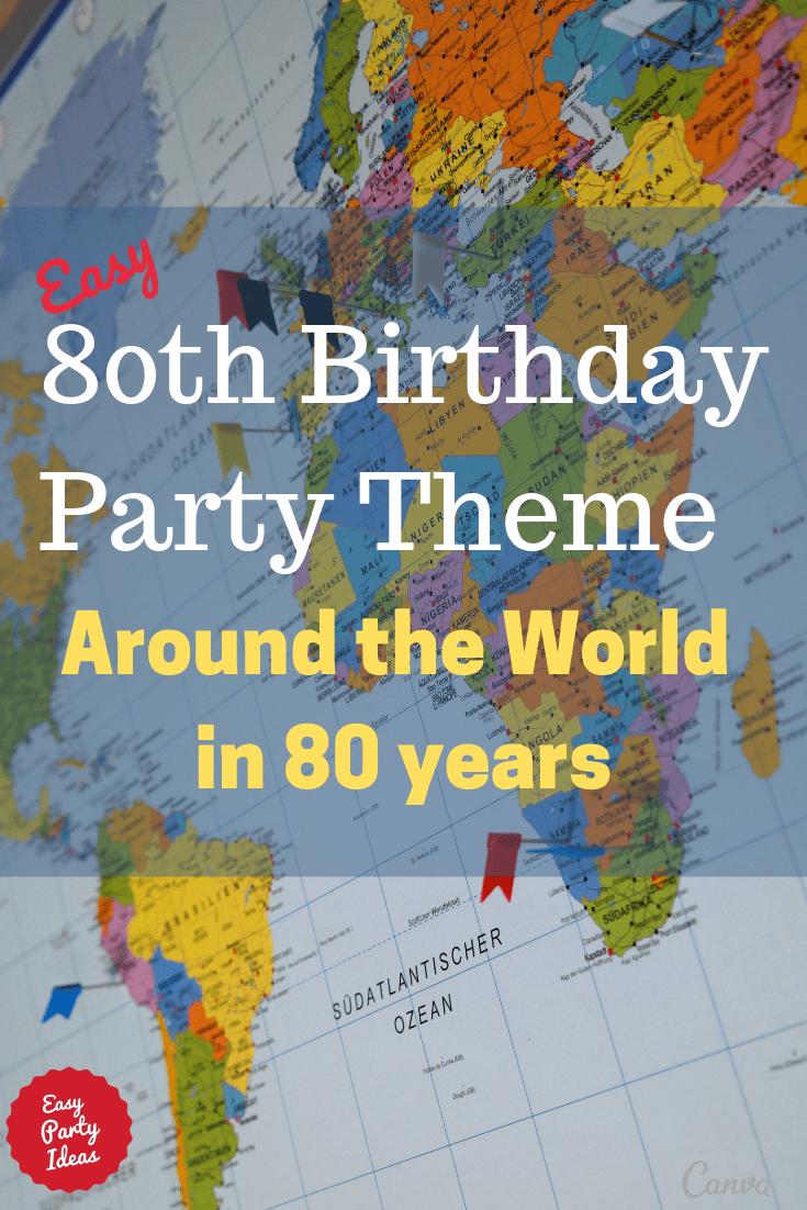 80th Birthday Party Theme