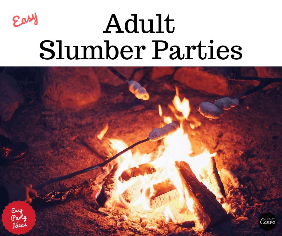 Adult Slumber Party Movie Night