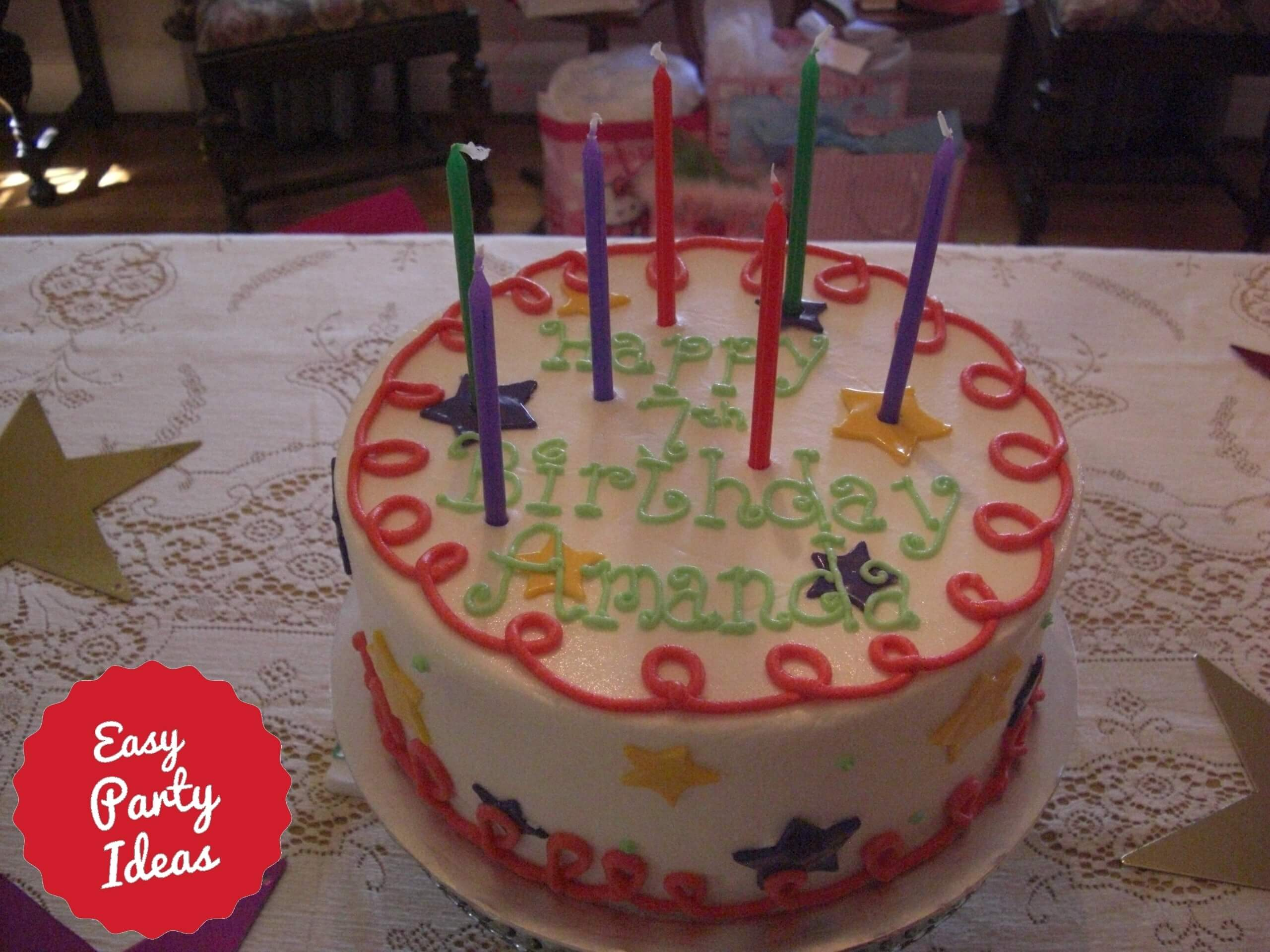American Girl Party Cake