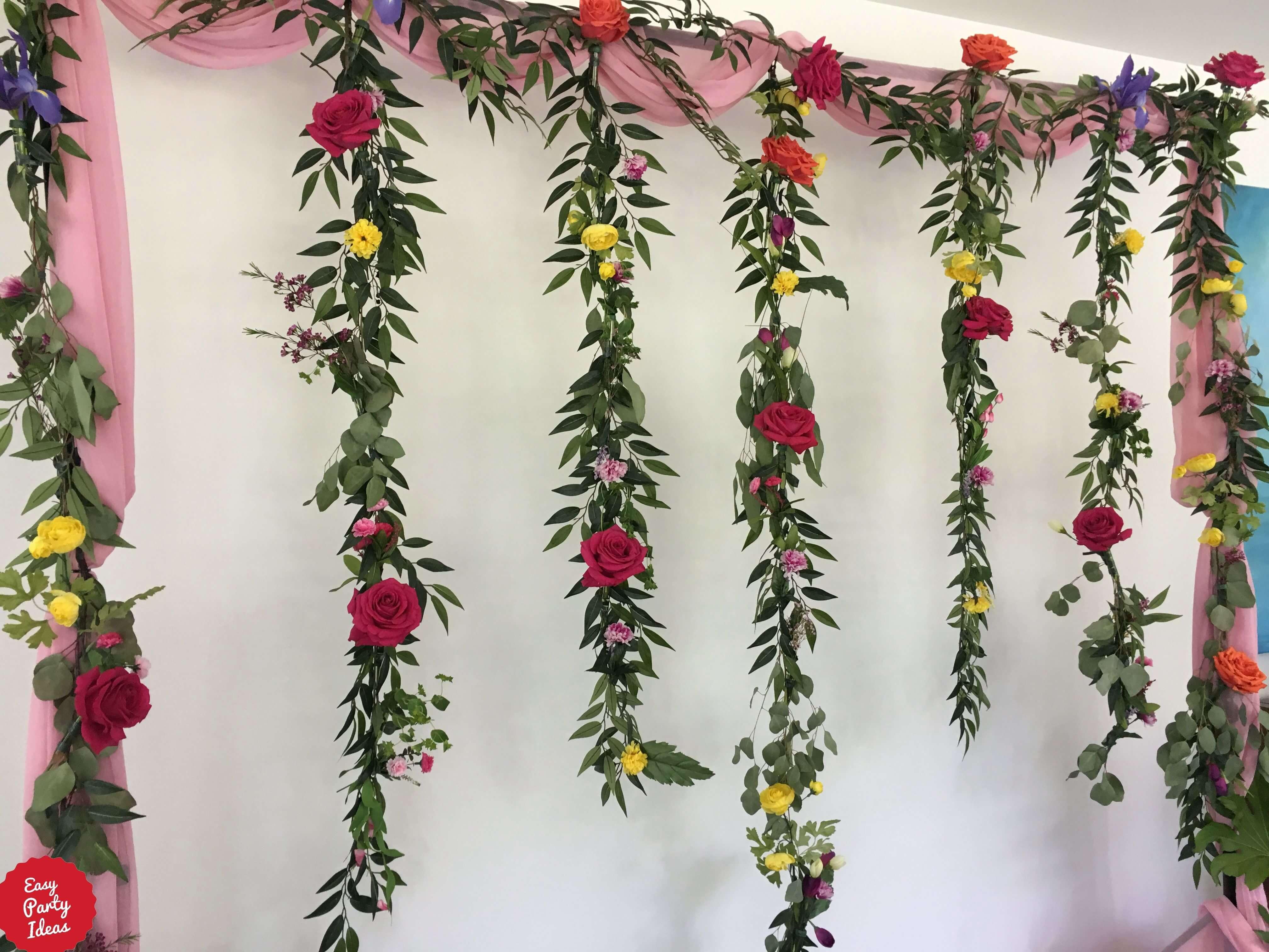 Pink Floral Backdrop