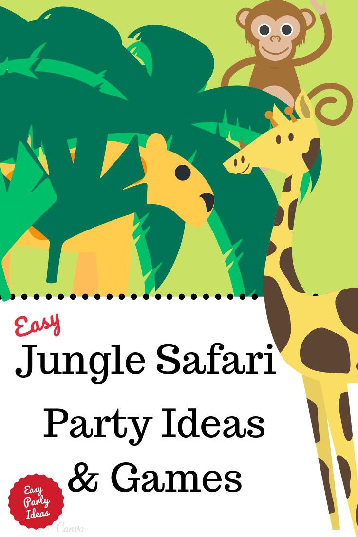 Jungle Safari or Zoo Animal Party Ideas