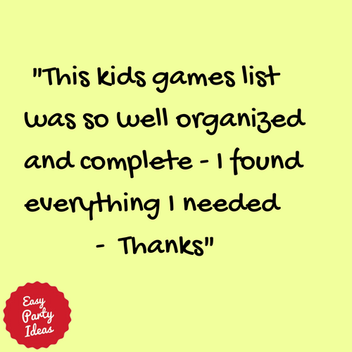 Kudos for Kids Party Games