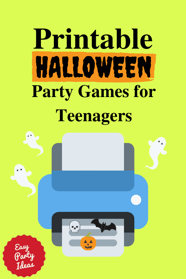 Printable Halloween Party Games for Teens