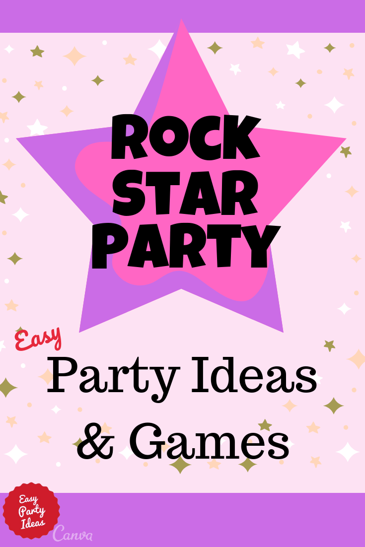 Rock Star Party Ideas and Games