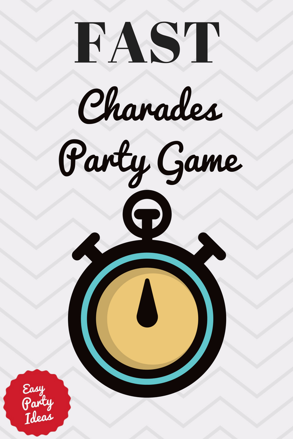 Fast Charades Party Game