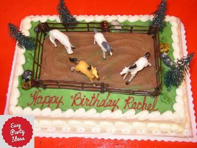 Cake With Horse Figurines