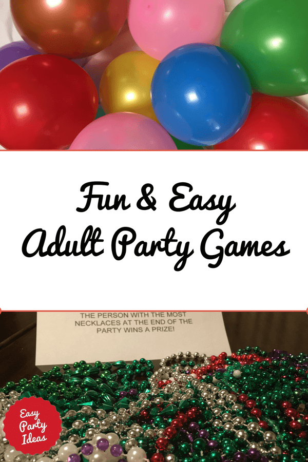 Adult birthday clean fun game party