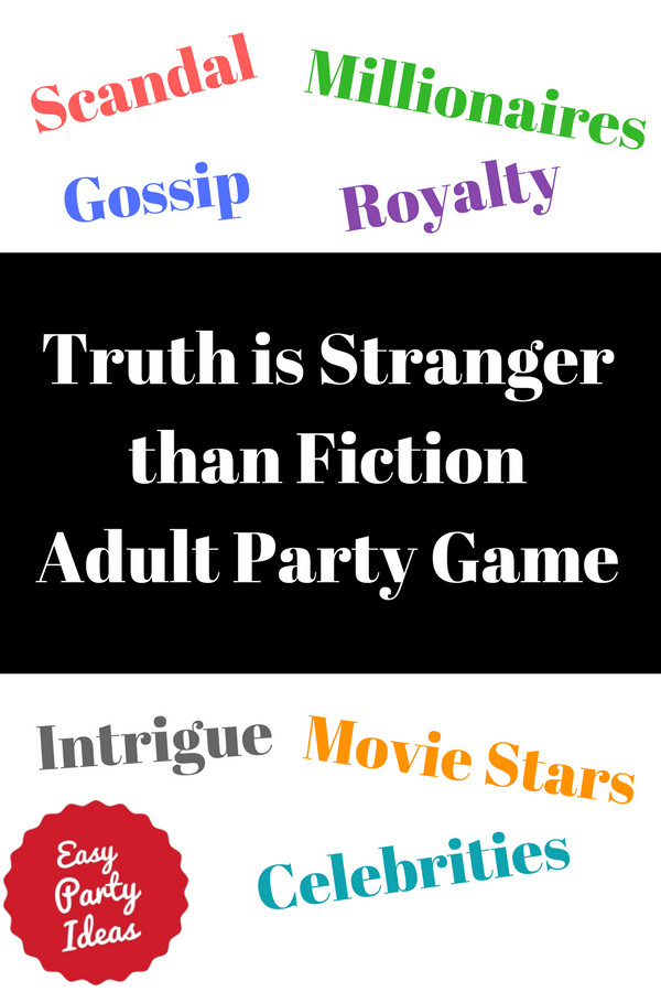 Truth is Stranger Than Fiction Game