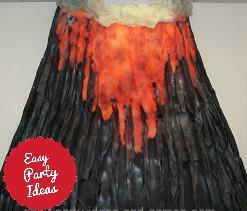 Volcano Party Decoration