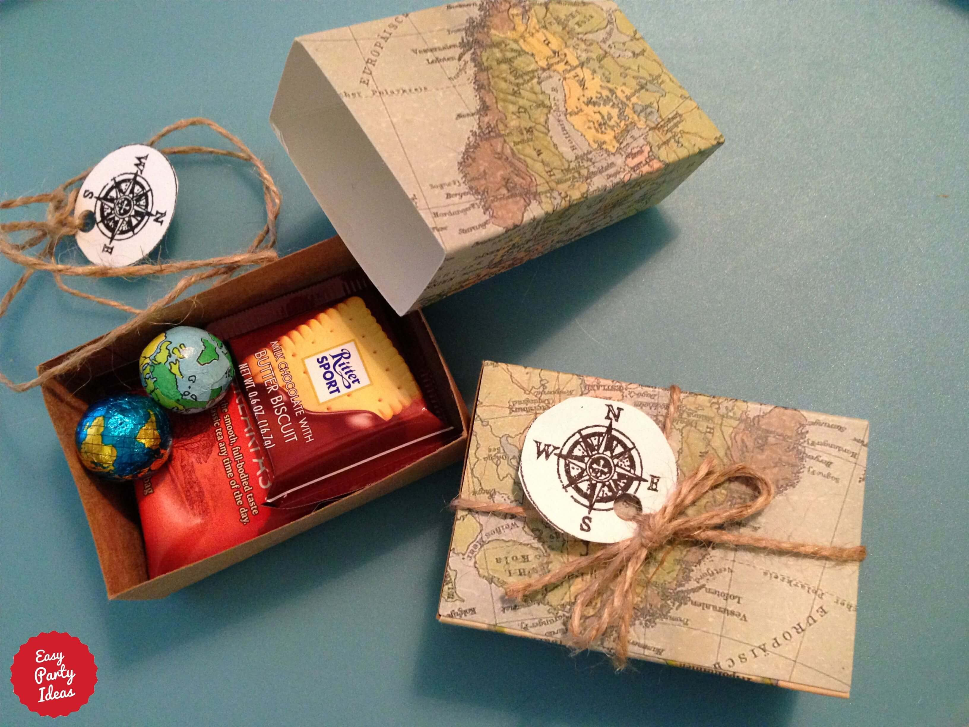 Around the World Party Favors for someone who loves travel