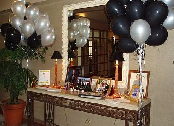 adult birthday party table, adult birthday display, 50th birthday