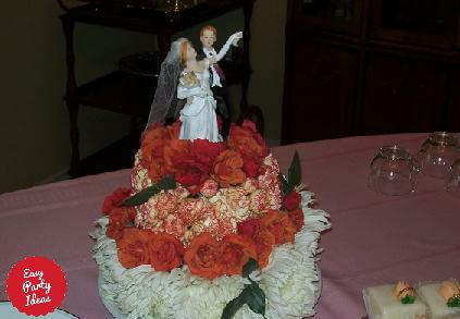 Wedding Cake made out of flowers