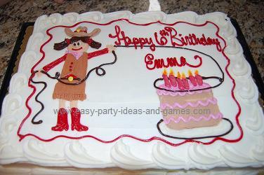 Super Cute Cowgirl Cake Funny Birthday Cards Online Alyptdamsfinfo