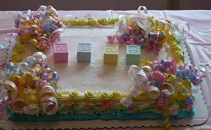 Easy Cake Decorating Baby Shower : Baby Shower Cake Designs