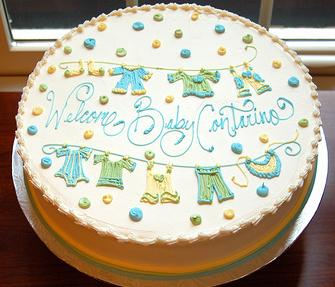 Easy Cake Decorating Baby Shower : Baby Shower Cakes: Baby Shower Cake Ideas Easy