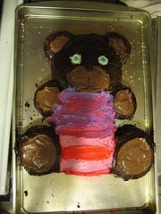 how to make a cake shaped like a teddy bear