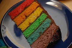 Rainbow Cake Layers