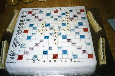 Easy Birthday Cake Ideas on Scrabble Cake  Birthday Cake