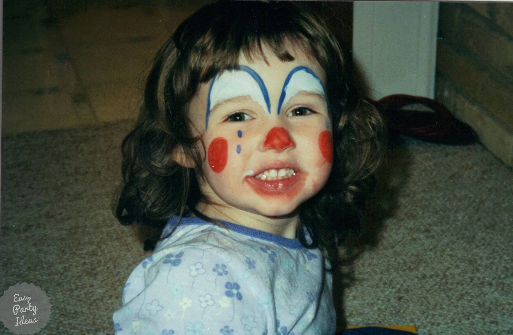 Clown Face Paint for a Circus Party