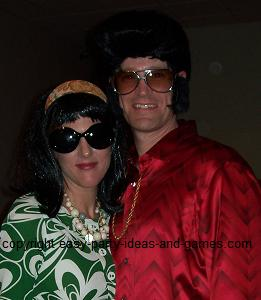 Homemade Elvis and Priscilla Costumes