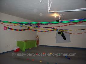 party decorating ideas for a garage