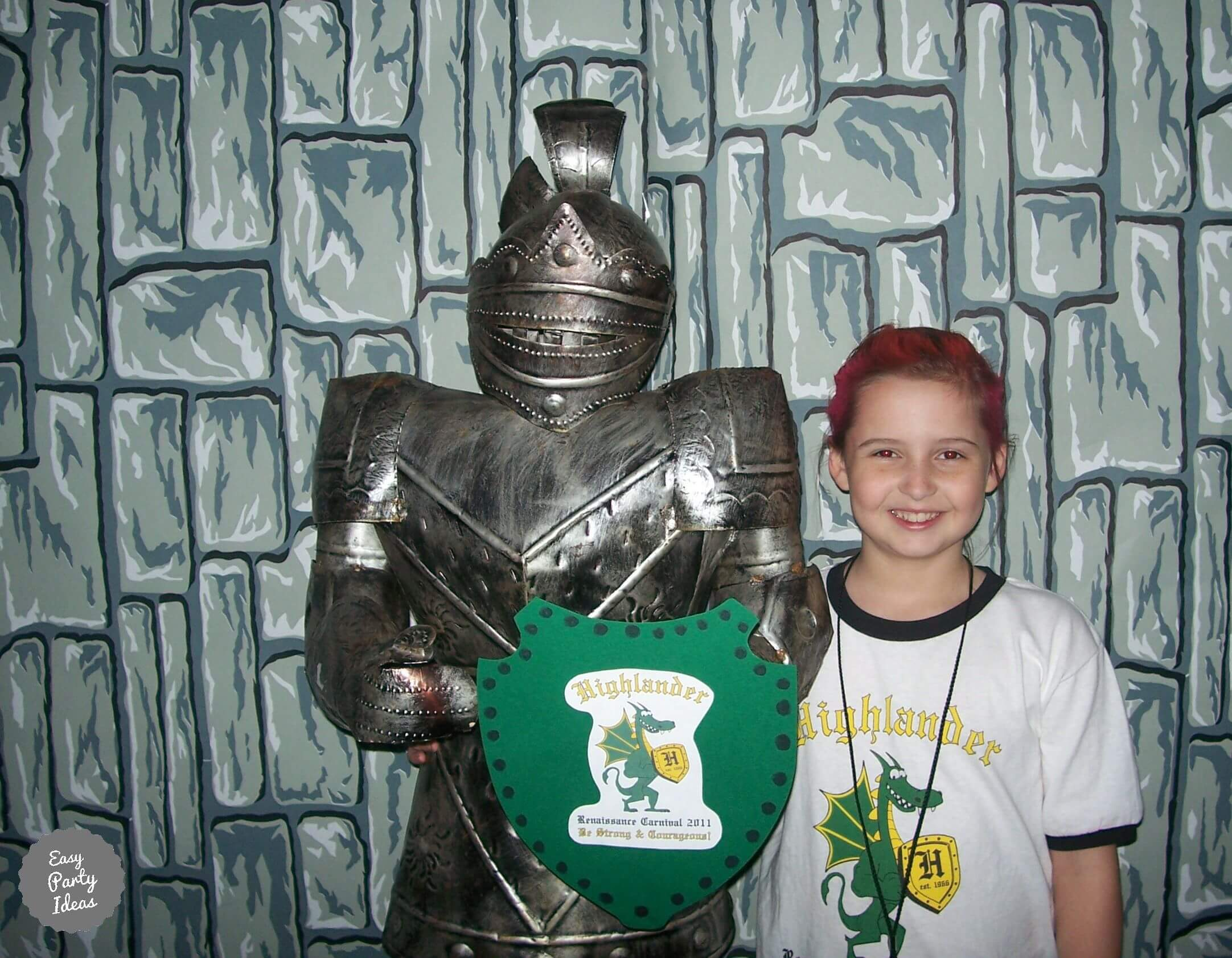 Knight Party Photo Booth Background