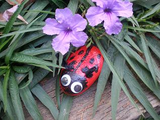 Craft Ideas Rocks on Ladybug Craft  Painted Rock Craft  Ladybug Party Favor