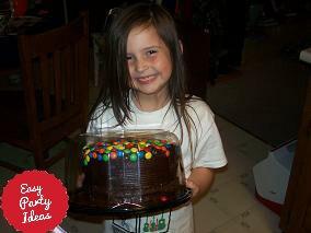 Girl Holding Cake