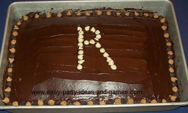 Monogram Cake with Initial R
