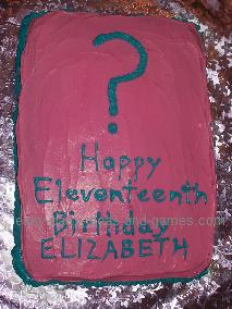 mystery party cake