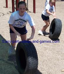 Tire Relay Race