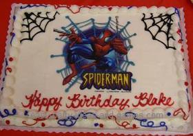 Excellent Spiderman Cake Birthday Cards Printable Opercafe Filternl
