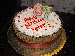 Adult 37th Birthday Cake