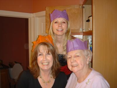 Christmas Cracker Paper Hats can make <br>a fun Christmas party game!